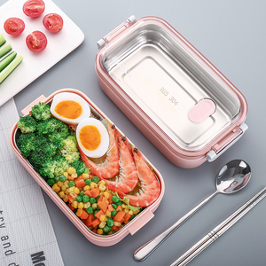 饭盒日式多层便当盒分隔型防烫便携中小学生保温不锈钢上班族餐盒