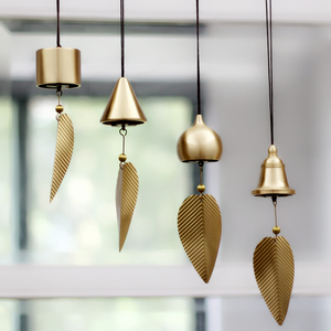 纯铜风铃挂饰日式铜风铃创意家居阳台卧室铃铛汽车挂件生日礼物