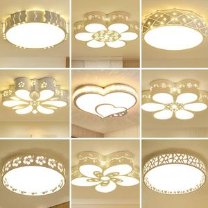卧室灯吸顶灯led现代简约 温馨浪漫客厅家用主房间灯圆形过道灯具