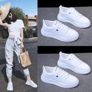 小白鞋女鞋夏季网面透气板鞋百搭爆款2020年新款老爹薄款运动白鞋