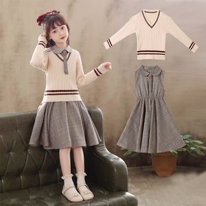 女童连衣裙2021新款春秋大童公主裙春款儿童童装裙子春夏洋气春装