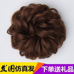 逼真假发发圈橡皮筋发包盘发拉花花苞女头花卷发大发圈分钟头发