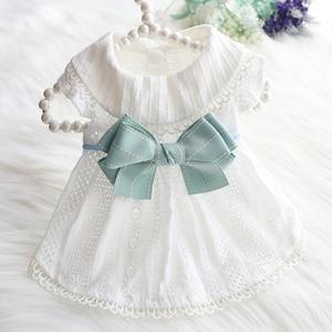 狗狗衣服春夏季薄款裙子公主全棉薄荷蝴蝶清凉猫泰迪比熊宠物衣服