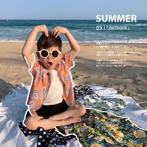 辰辰妈童装男童衬衫儿童短袖衬衣休闲夏威夷度假风宝宝百搭宽松潮