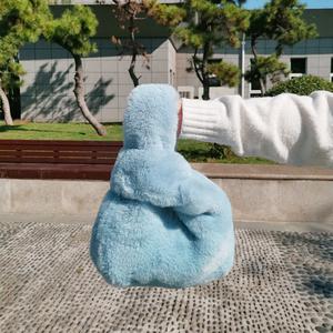 2020新款韩版秋冬季仿獭兔毛皮草手提包袋可爱毛毛绒背心包包女士