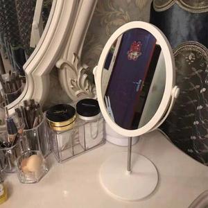 台式宿舍化妆镜子桌面便携小折叠学生美妆led带灯双面网红梳妆镜