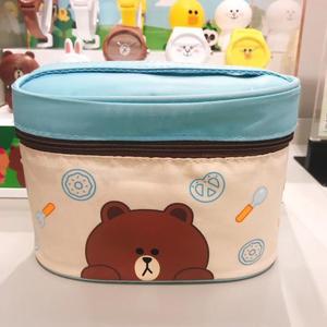 特惠 韩国LINE FRIENDS布朗熊丘可便当包饭盒叉子套装手提保温袋