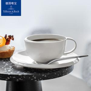 Villeroyboch德国唯宝咖啡欧式个性咖啡杯碟创意简约家用新款新月