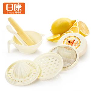 日康 宝宝食物调理器组 RK3706 研磨榨汁 婴儿辅食研磨器七件套