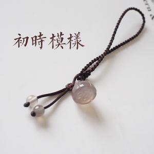【初时模样】水冰灰莲子 古风文艺双绞丝手绳~细小安静的美好
