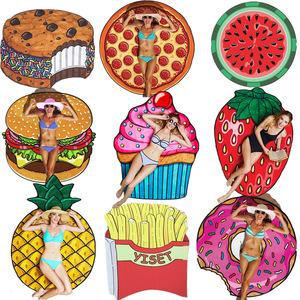 欧美超大甜甜圈沙滩巾户外旅行超轻速干披巾运动吸水巾游泳沙滩毯