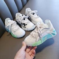 现货韩国内代购儿童装男童女童男孩宝亲子夏款运动鞋童鞋网面网鞋