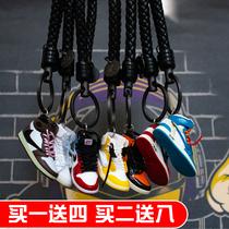创意aj钥匙扣篮球鞋立体模型包包挂件手工汽车钥匙链男女生日礼物