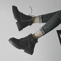 马丁靴女2020年新款内增高英伦风百搭短靴厚底秋冬加绒靴子潮ins