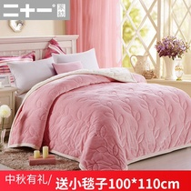 珊瑚绒毯双层加厚法兰绒毛毯秋冬季盖毯保暖毯子床单人双人被子