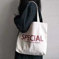 2020新款韩风经典字母简约帆布包 ins学院风休闲单肩帆布袋