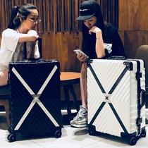 璐思迪行李箱女拉杆箱万向轮小清新韩版铝框旅行箱大学生密码箱包