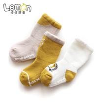 宝宝中筒地板袜子秋冬季冬天款加厚保暖防滑男童儿童女童婴儿长筒