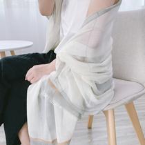 丝巾女夏季薄款戒指绒围巾海边沙滩防晒超大办公室空调房百搭披肩