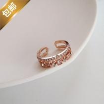 日常穿搭淑女感气质ins街拍韩潮女指环简约学生戒指唯美显白指环