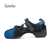 法国三沙运动凉鞋帆布广场舞鞋防滑橡胶两底沙滩鞋户外舞蹈鞋女