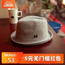 秋冬季小礼帽韩版羊绒m帽子女冬英伦复古时尚羊毛呢男士爵士帽子