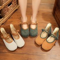 北京老布鞋民族风女鞋复古浅口牛津软底单鞋休闲透气百搭汉服鞋夏