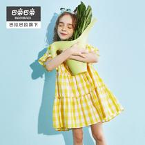 巴拉巴拉旗下女童连衣裙儿童裙子2020新款夏装公主裙薄款洋气童装