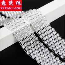 。领带水晶项链舞长款配饰领带颈链时尚水兵水钻锁骨水钻韩国女。