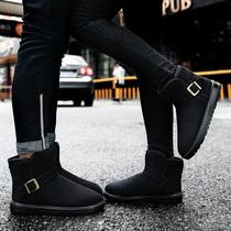 冬情侣款雪地靴女鞋加绒加厚绒面短靴子保暖棉靴棉鞋透气套筒男靴