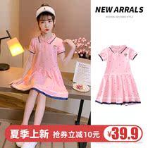 女童连衣裙2020新款韩版夏装短袖洋气公主裙中大童女孩Polo衫裙子