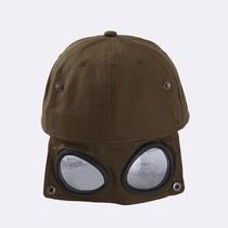 。飞行员帽男士帽子女眼镜鸭舌帽男墨镜棒球帽ins潮嘻哈个性潮牌