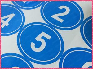 数字贴纸圆形进口不干胶数字贴纸号码贴纸标签贴标签订做选手贴纸