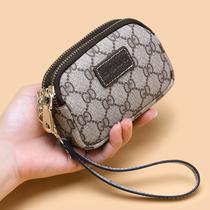 妈妈欧美新款双拉链零钱包女迷你钥匙包钱包硬币包多功能小手包女