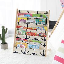纯实木儿童书架宝宝书柜幼儿园图书架又又同款绘本架卡通玩具收纳