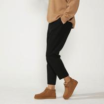 天和原创九分复古西裤男羊毛呢子小脚九分西装裤男裤子定制定做潮