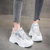 老爹鞋女ins潮2021年新款单鞋内增高8cm休闲运动鞋厚底松糕小白鞋