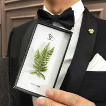 海德公园植物叶子套装礼盒文艺森系胸针西服配饰男士领针高档别针
