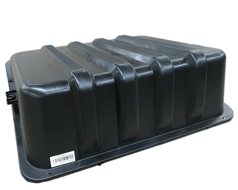 热卖福田戴姆勒欧曼汽车配件 etx蓄电池箱盖 欧曼塑料电瓶盖 电瓶罩图片