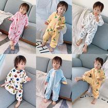 连体睡衣女卡通动漫秋冬儿童可爱动物珊瑚绒家居服婴幼儿保暖爬服