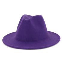 秋冬季新款毛呢礼帽男女士情侣帽子大檐直边帽子时尚百搭爵士帽