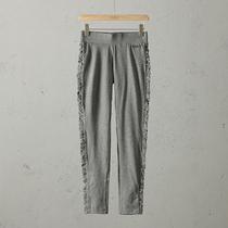 51SHOP女装 精品美国单女士全棉高弹拼接款塑身打底显瘦百搭长裤