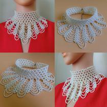 新款花瓣珍珠假领子项链女围脖百搭毛衣假衣领立领装饰镂空娃娃领
