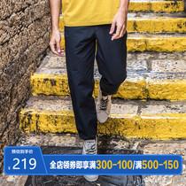AK男装 2019春秋新款复古收脚裤男休闲九分宽松长裤工装裤