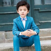 儿童西装套装帅气英伦小主持人表演服男童花童礼服韩版西服三件套