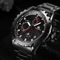 父亲节盘面新款式男士手表.流行正品便携防水潮男品牌男款ins实用