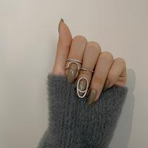 高级感轻奢小众戒指女时尚个性食指指环ins冷淡风指甲套指尖饰品