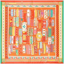 欧美H新款手镯皮带图案100cm女士大方巾丝巾围巾空调披肩防晒头巾