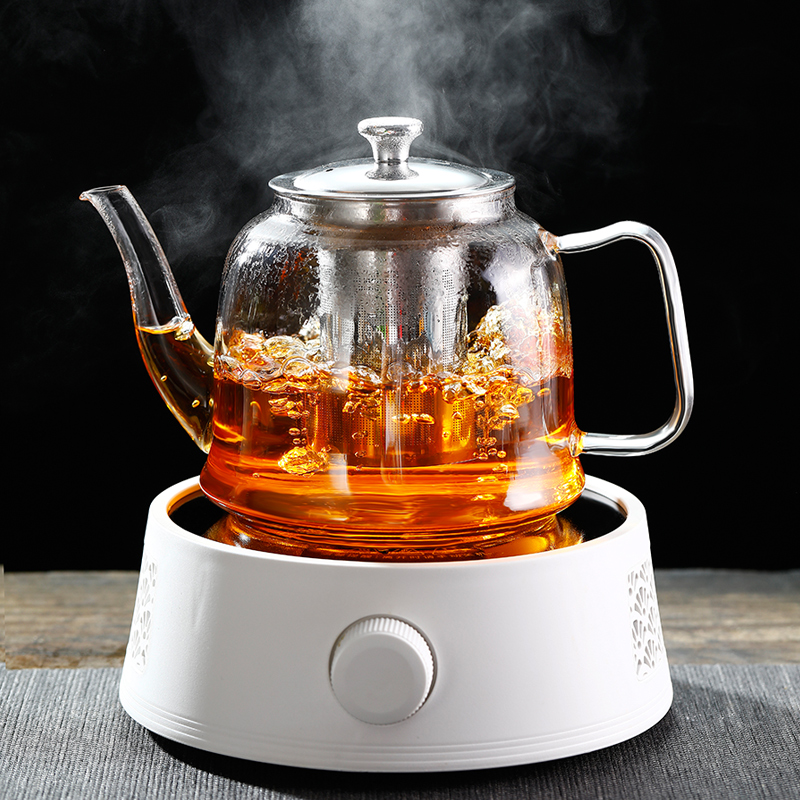 Teapot set group home tea maker fully automatic black crystal furnace large capacity resistant to high temperature thickening filter glass kettle