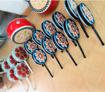 Hotba drum painting national dance cowhy fan drum Taiping drum students adults with the same heart drum rhyme